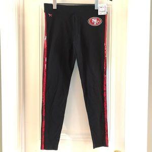 NWT - Victoria'a Secret PINK 49ers Yoga Pants